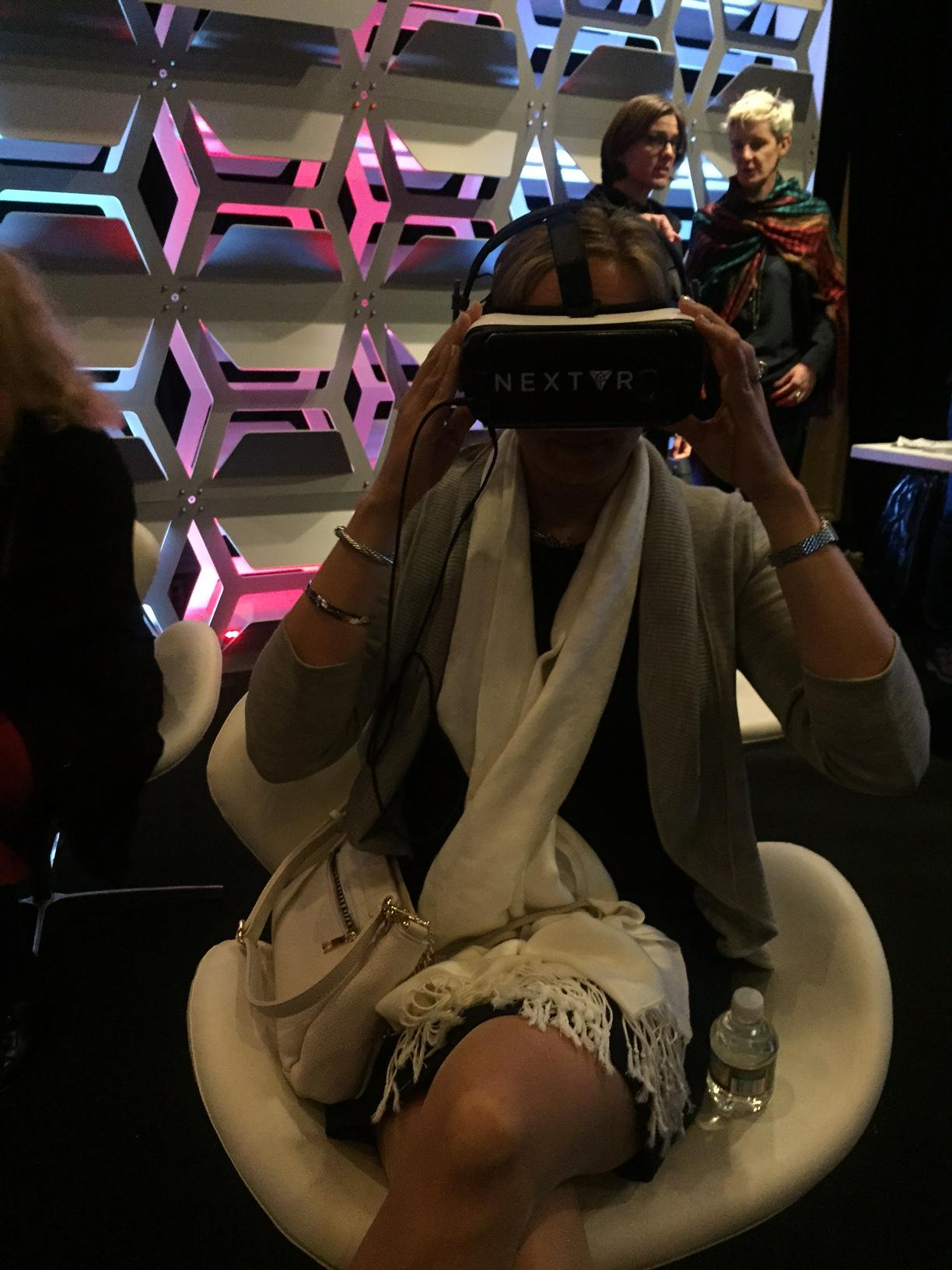 Lindsey seeing VR at Time Inc